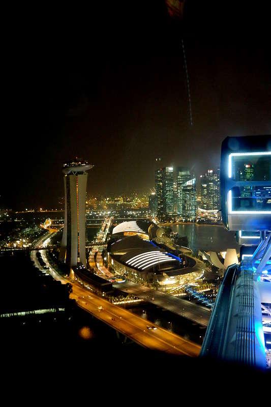 Aussicht aus dem Singapur Flyer.