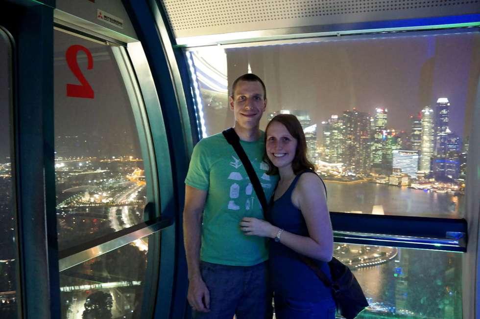 Jonas und Franzi in Singapur