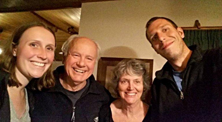 Selfie mit Paul und Philippa nach dem Dinner.