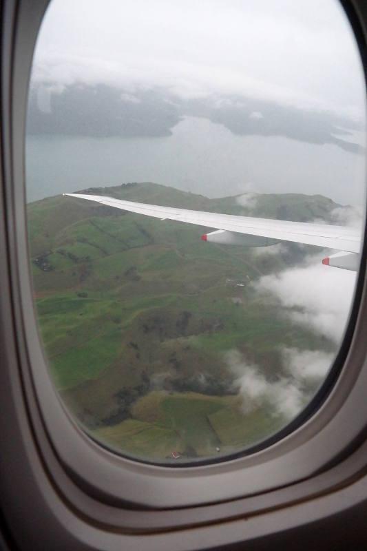 Neuseeland von oben - Blick aus dem Flugzeug