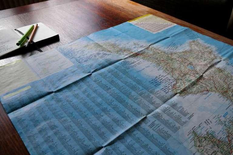 Karte mit Grüßen als Erinnerung