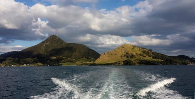 Whangarei Heads vom Boot