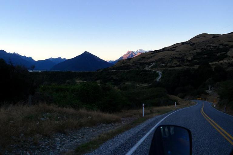 Fahrt nach Glenorchy Neuseeland