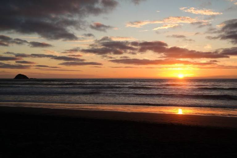 Sunset Muriwai Beach