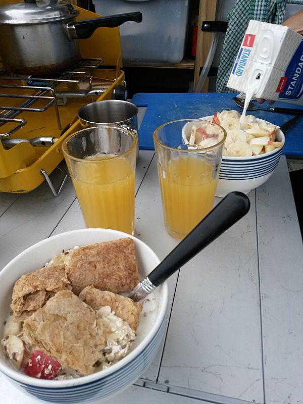 Backpacker Frühstück Neuseeland