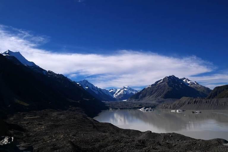 Mt Tasman und Tasman Gletscher