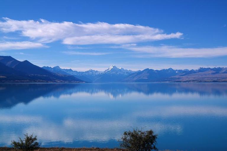 Lake Pukaki und Mt Cook