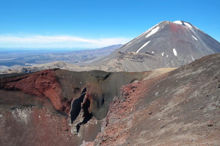 Neuseeland Tongariro Alpine Crossing Sonnenbrille auf überbelichtetes Foto
