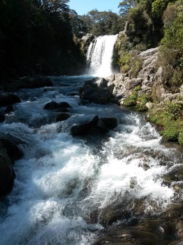 Neuseeland Wasserfall ohne Stativ