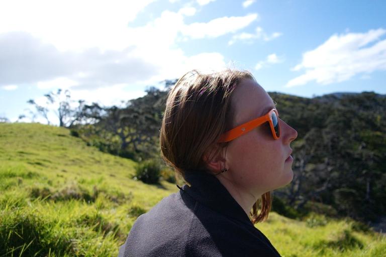 Franzi mit Sonnenbrille