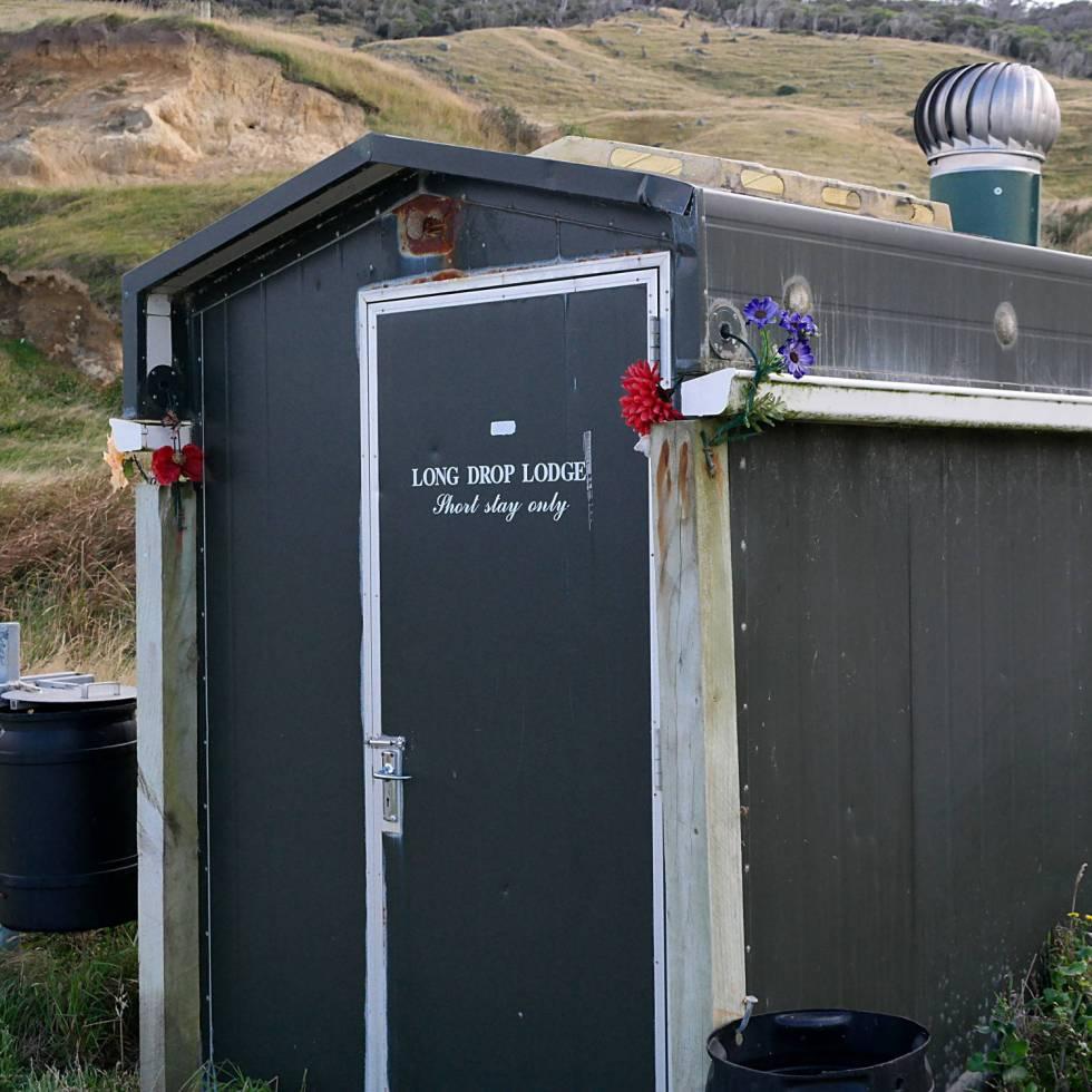 Longdrop Toilette Neuseeland