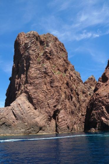 Die Felsformation ist vulkanischen Ursprungs.