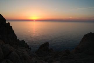 Sonnenuntergang bei l'ile Rousse