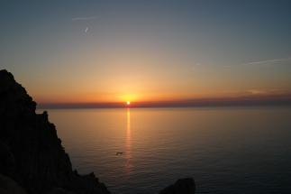 Sonnenuntergang bei l'ile Rousse II