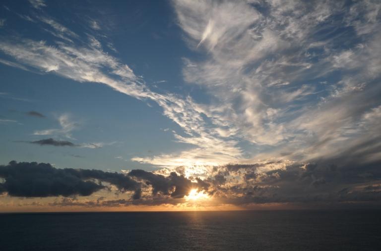 Sonnenuntergang auf Sao Miguel auf den Azoren