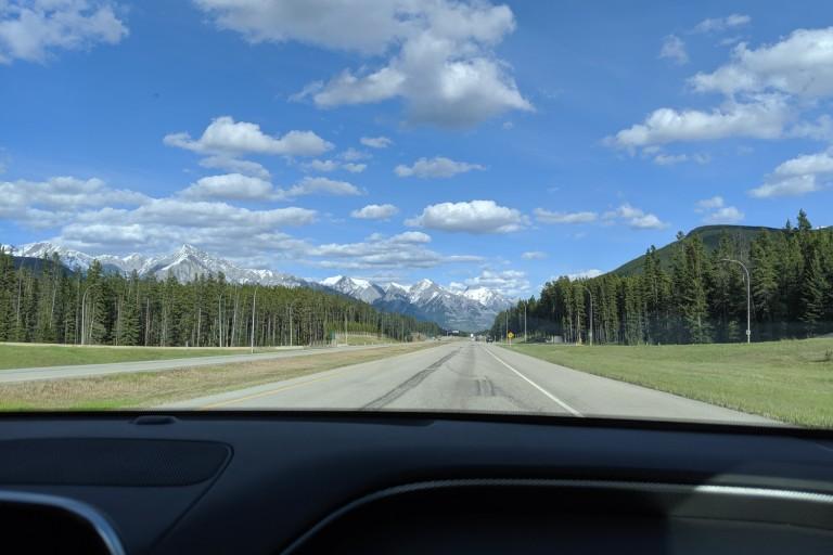 Unterwegs auf Kanadas Autobahnen - meistens sind sie nicht so leer.