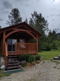 Unsere Unterkunft in Nakusp - ein Tiny House