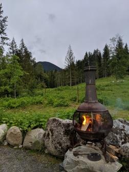 Lagerfeuer-Romantik in Nakusp