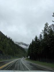 Auf dem Trans Canada Highway in Richtung Glacier Nationalpark.