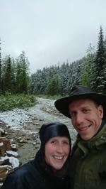 Wir auf dem Loop Brook Trail