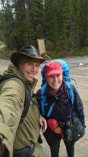 Am Start der Wanderung zur Elizabeth Parker Hut.