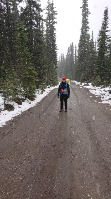 Auf der Wanderung zur Elizabeth Parker Hut: Schnee!