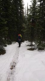 Franzi auf den letzten Metern zur Elizabeth Parker Hut.