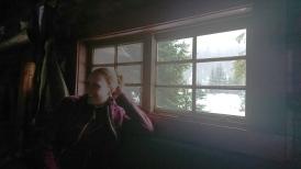 Franzi in der Elizabeth Parker Hut.