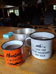 Tee trinken in der Elizabeth Parker Hut