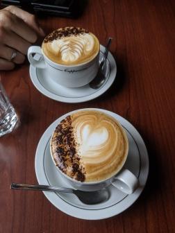 Kaffee im Truffle Pigs im Yoho Nationalpark