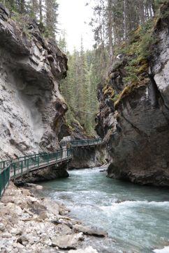 Johnston Canyon - weniger los nach dem ersten Wasserfall.