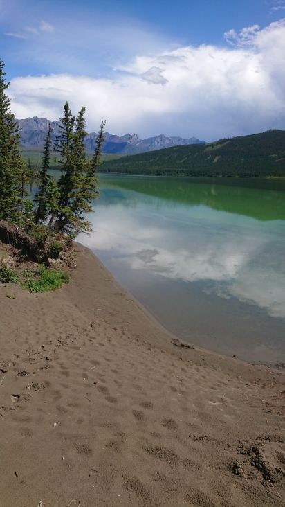 Beginn des Jasper Nationalpark