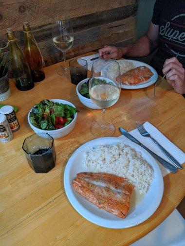 Kanadischer Lachs zum Abendessen