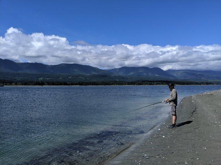 Tag am Strand auf Vancouver Island