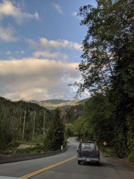 Auf dem Heimweg von Tofino