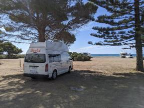 Camping direkt am Meer