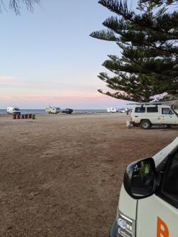 Sonnenuntergang vom Camper