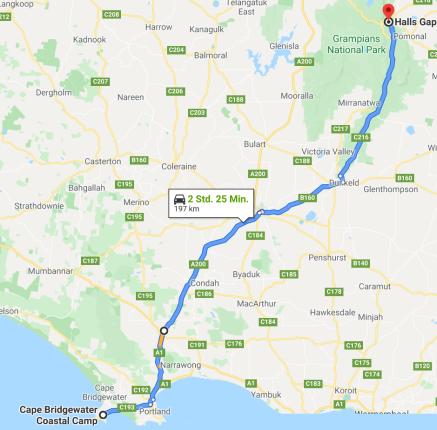 Karte Roadtrip